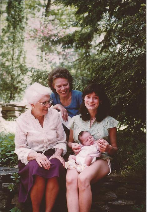 Four generations of women on Mother's Day, 30 yrs ago