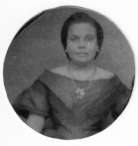 My great great great grandmother. Her mother was Indonesian and her father was a Dutch sea captain.