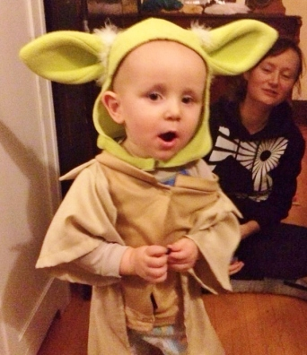 The Overlord as Yoda. (Wearing a costume for a dog). Ha ha!