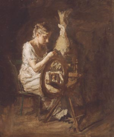The Spinner by Thomas Eakins